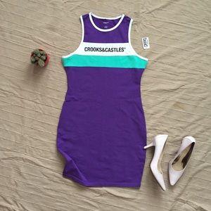 NWT Crooks & Castles New Block Core bodycon dress